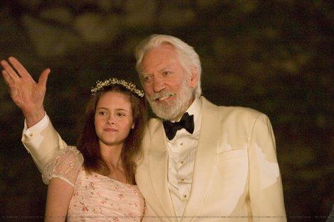 Donald Sutherland and Kristen Stewart