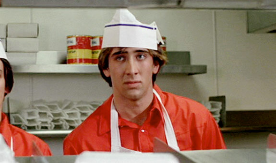 Nicolas Cage, 30 years before he would agree to star in a remake of Left Behind.