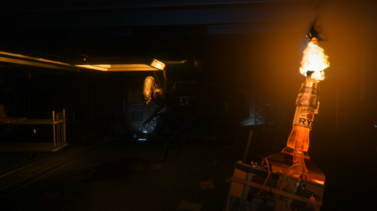 The lighting effects are wonderful in next gen (especially PC). That molotov will only make the Alien mad.