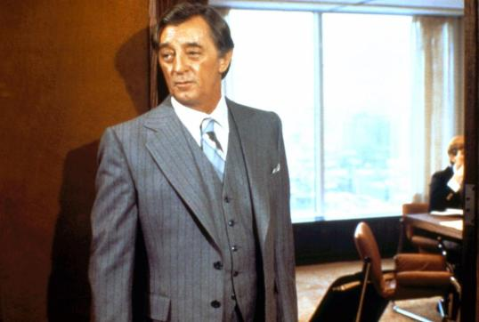 """Just try to make me care."" Robert Mitchum in Agency."