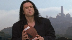 Tommy Wiseau and football in The Room
