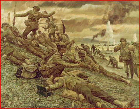 D-Day, Omaha Beach by Ken Riley