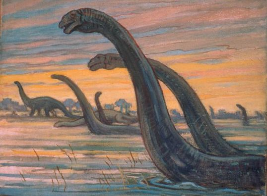 Brontosaurus by Charles R. Knight