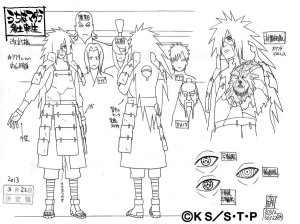Studio Pierrot sketches for Madara Uchiha