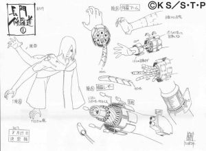 Studio Pierrot sketches for Nagato 1