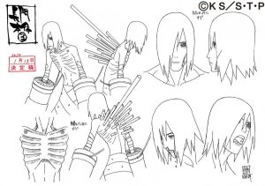 Studio Pierrot sketches for Nagato 9