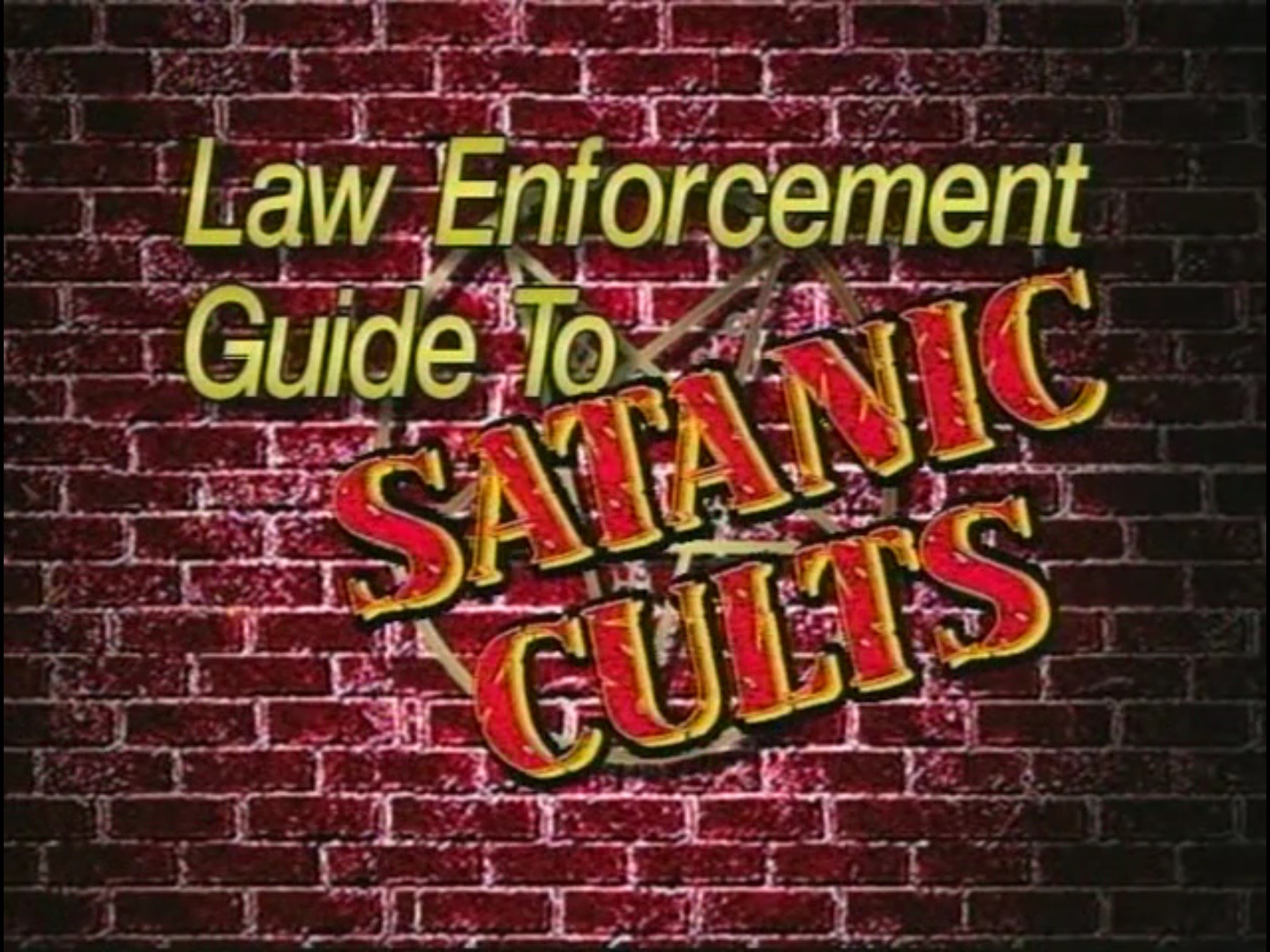 Film review law enforcement guide to satanic cults 1994 dir title screen buycottarizona Gallery