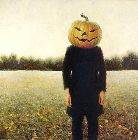 Pumpkinhead -- A Self Portrait by Jamie Wyeth