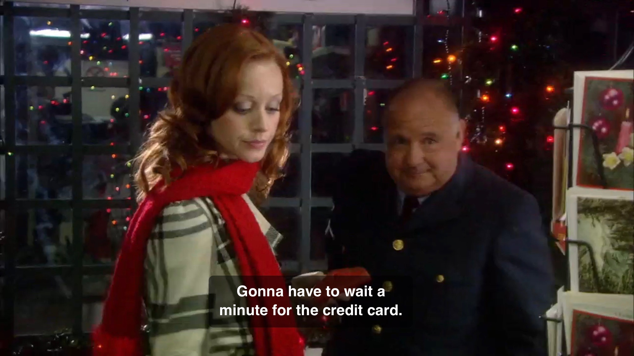 carrie is at a gas station where she meets the attendant named henry derek mcgrath henry is a nice guy she of course gives the hallmark standard speech - Christmas Magic Movie