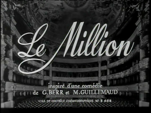 Le Million (1931, dir. René Clair)
