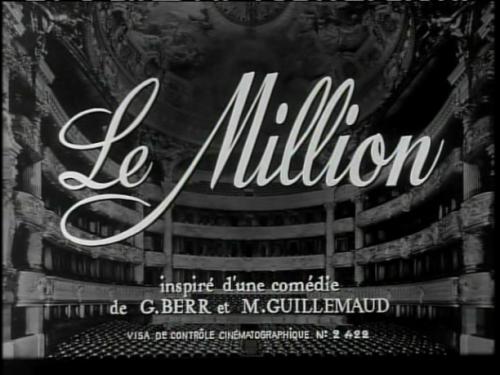Le Million (1931, dir. René Clair)