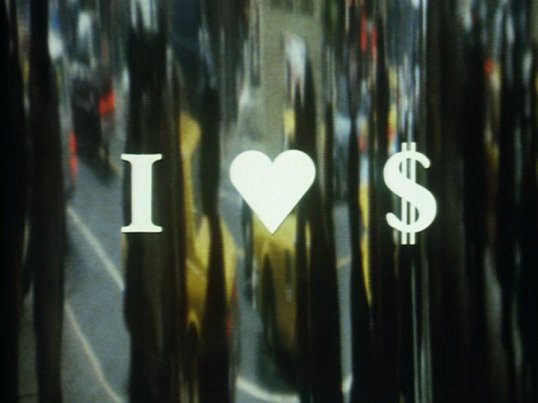 Right now another bad movie is getting made because of what this title card says. (I Love Dollars, 1986)