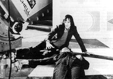 Dario Argento on the set of Suspiria