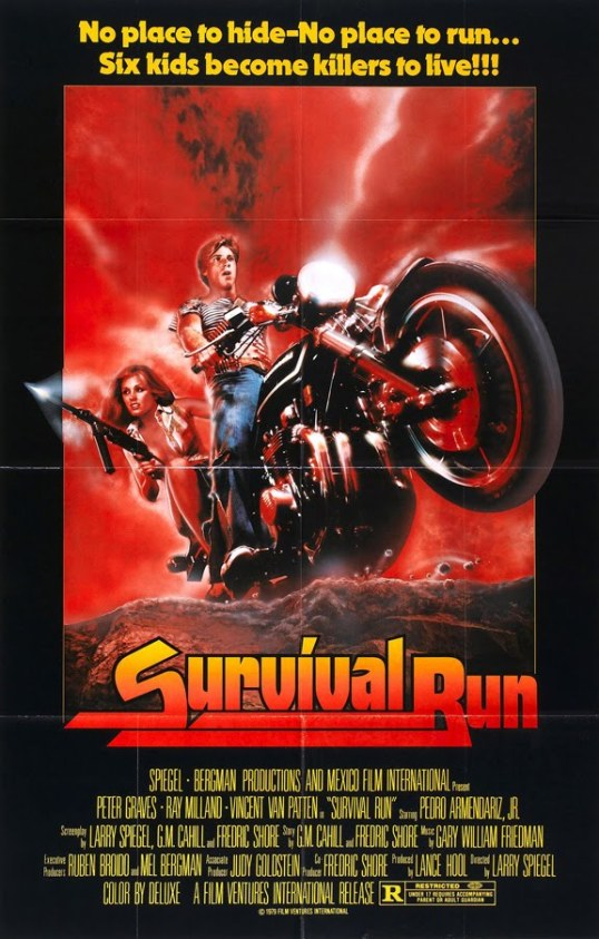 This poster for Survival Run reflects absolutely nothing that happens in the movie.