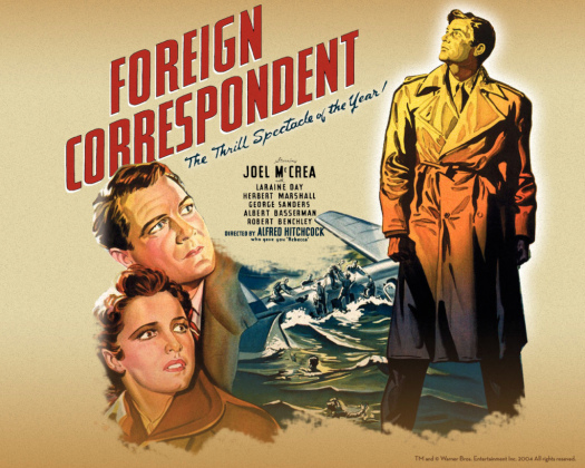 Image result for foreign correspondent movie poster
