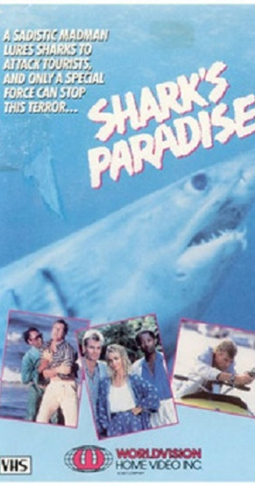 VHS Cover for Shark's Paradise (1986)